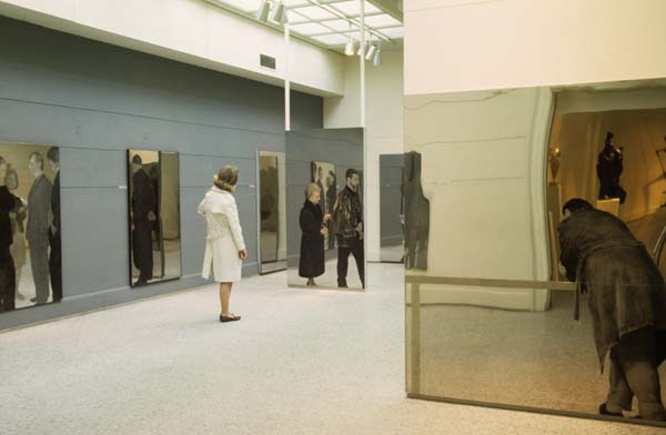 "Installation view ""MIchelangelo Pistoletto: A Reflected World,"" April 1966"