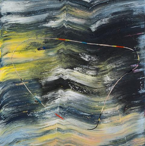 """Jack Whitten """"Warped Circle (Alan Shields),"""" 2013"""