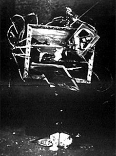 Photograph of Wolf Vostell's 'TV Burying' (1963), © Peter Moore