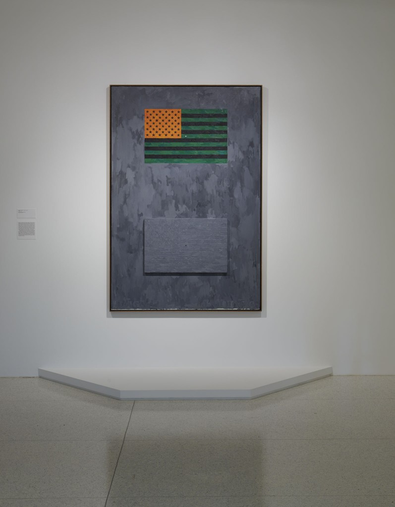 Jasper Johns's Flags (1965), installed in Less Than One