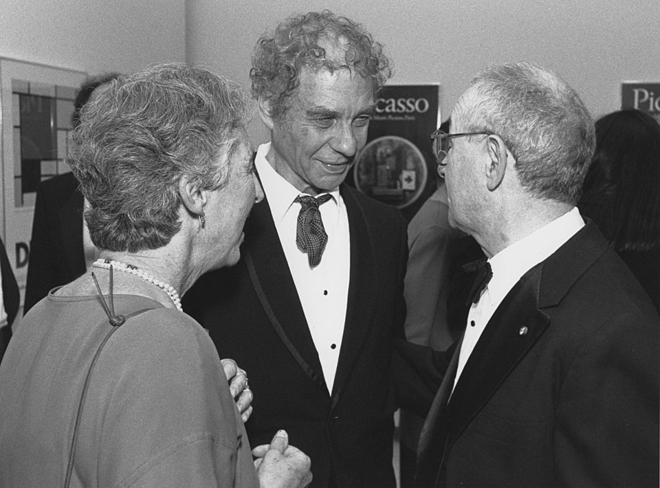 Mickey and Martin Friedman with Merce Cunningham, 1990