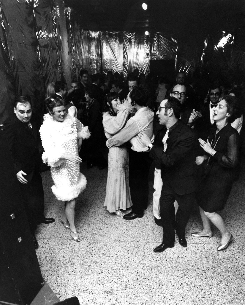 Martin and Mickey Friedman (at right) dance at the closing party, just before the old Walker building was demolished, 1969