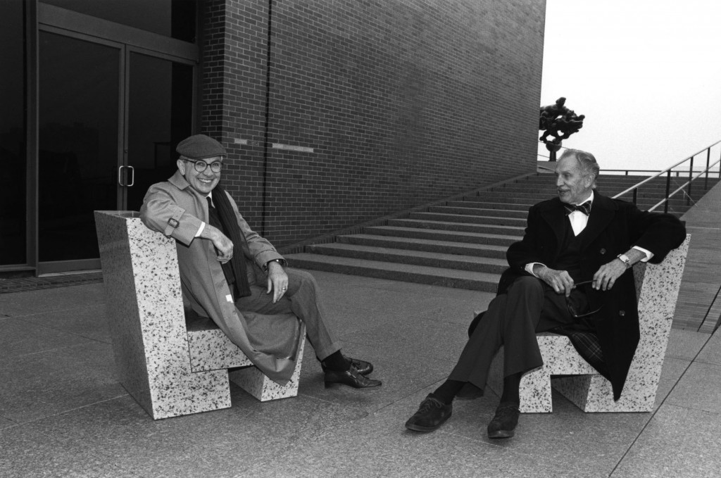 On the Walker terraces with Vincent Price, 1984