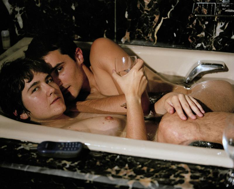 A couple takes a bath for real society, 2002.