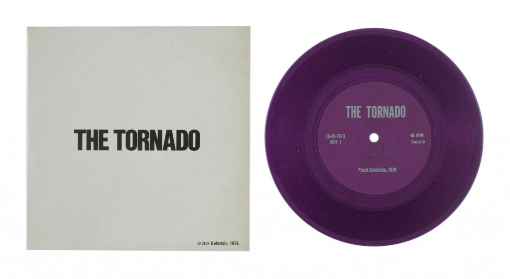 Jack Goldstein, A Suite of Nine 7-Inch Records (The Tornado), 45-rpm records; pressed color vinyl with offset labels and sleeves, 1976. Walker Art Center, McKnight Acquisition Fund, 2014