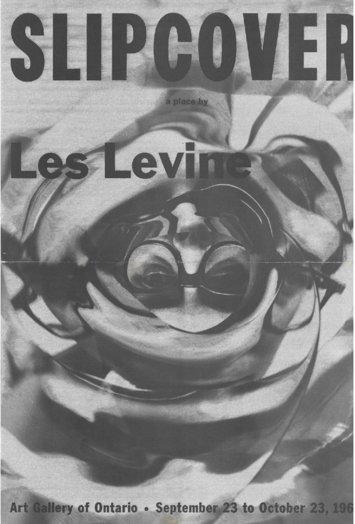 Brochure cover for Les Levine's 'Slipcover', Art Gallery of Ontario, 1966