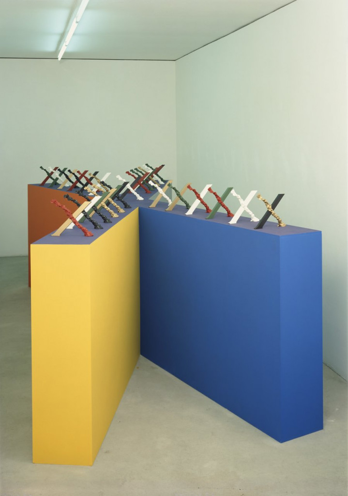 Liz Larner, Variable (1990), Painted bronze, 12 x 10 x 3/4 inches (30.5 x 25.4 x 1.9 cm) each, Edition of 25, © Liz Larner, Courtesy Regen Projects, Los Angeles