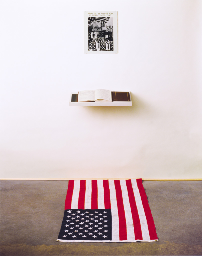 What is the Proper Way to Display a US Flag?, an installation for audience participation by Dread Scott