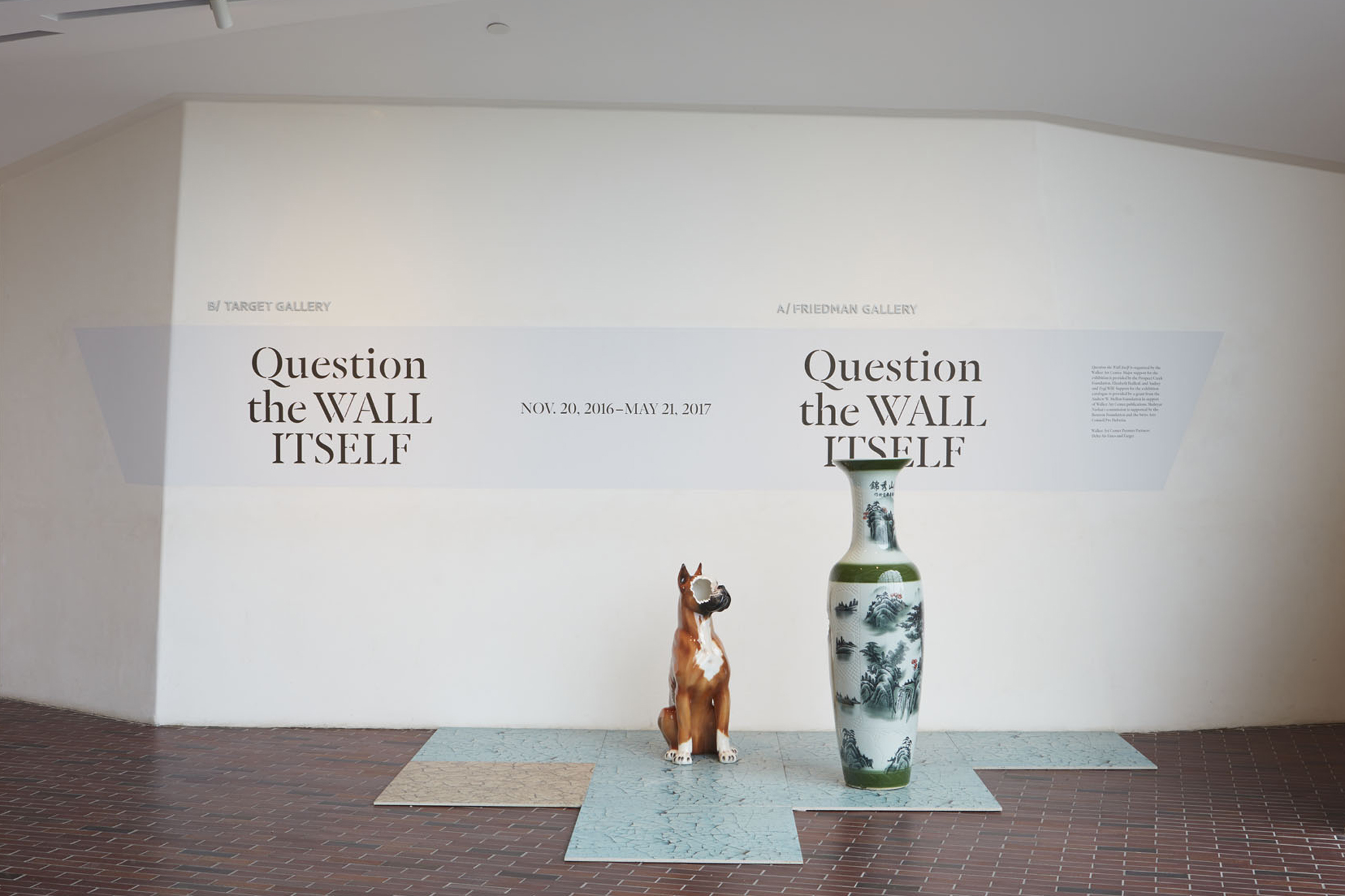 Installation view of Nina Beier's China in Question the Wall Itself at Walker Art Center, Minneapolis. Photo: Gene Pittman