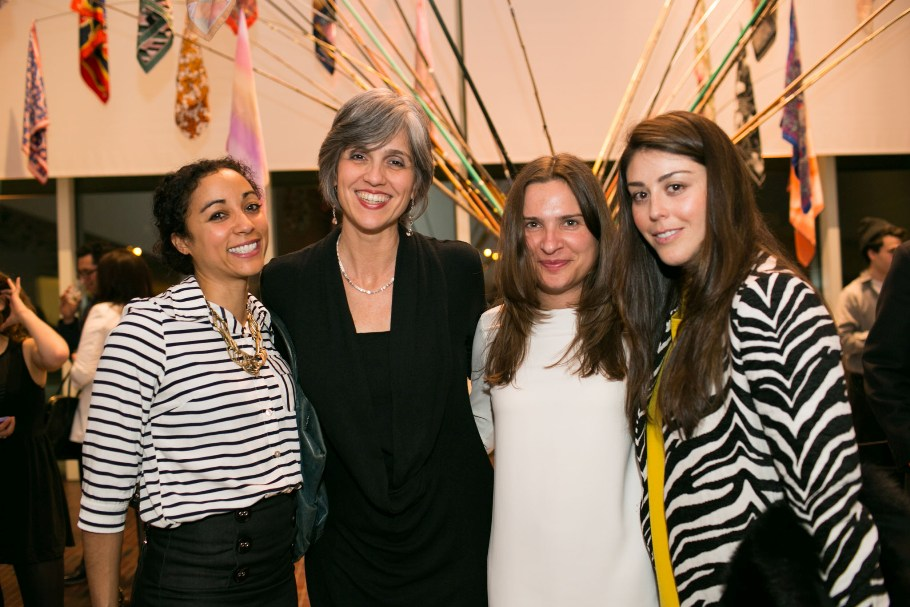 (Left to Right) Caroline Kent, Walker Executive Director Olga Viso, Maria Jose Lopez, and Angela Robins