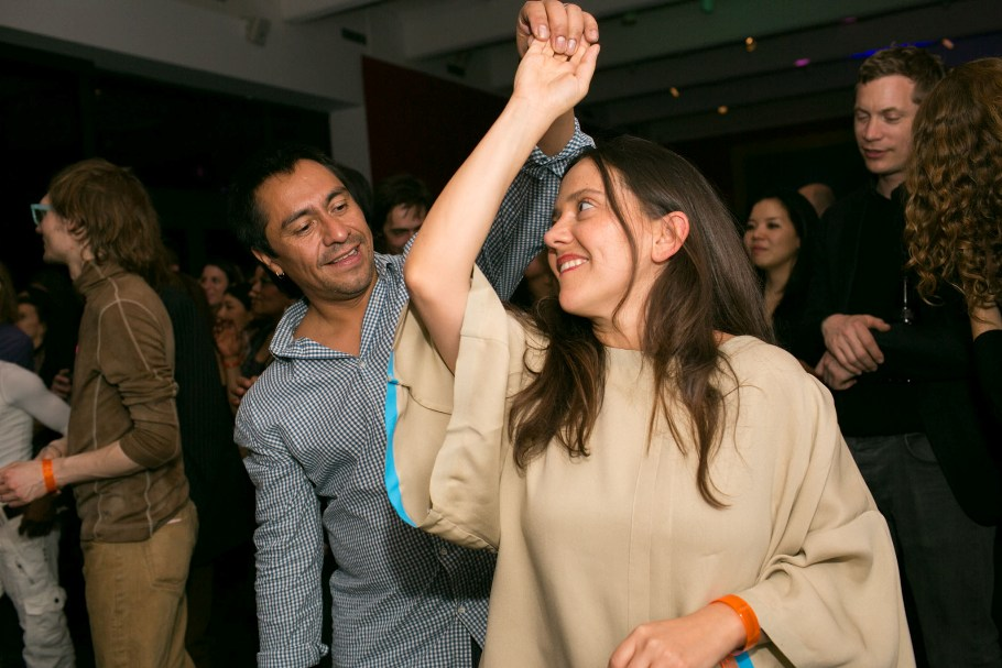 Abraham Cruzvillegas dancing with his wife Alejandra