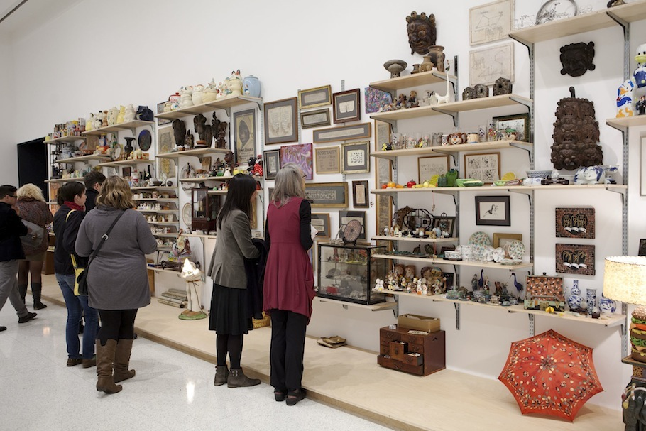 Museum goers inspect the contents of Danh Vo's I M U U R 2