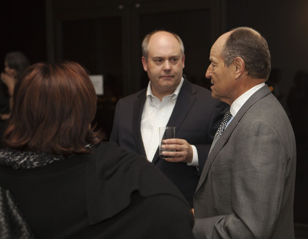 Walker development director Christopher Stevens and Twin's CEO Jim Pohlad.