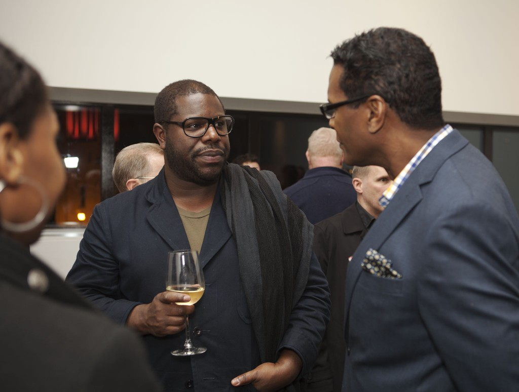 Artist and filmmaker Steve McQueen with Robert Byrd, program director for the Jerome Foundation, which provides grants for nonprofit arts organizations and artists in Minnesota and New York City.