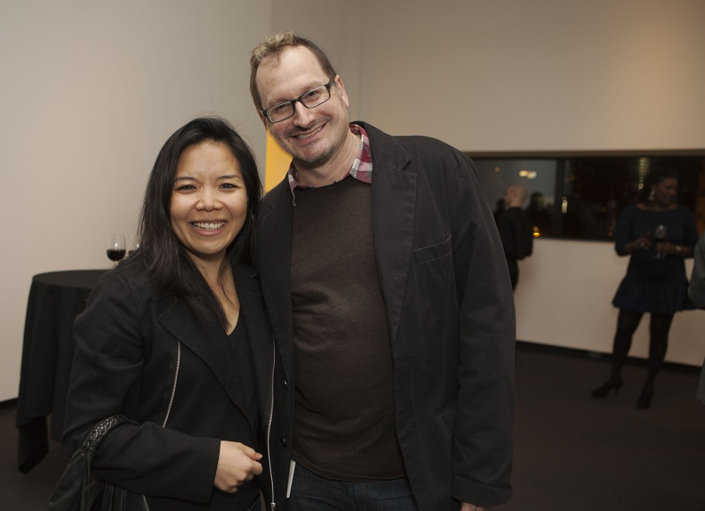 Clara Kim, Walker senior curator of visual arts, with Dean Otto, Walker assistant curator of film/video and program manager.