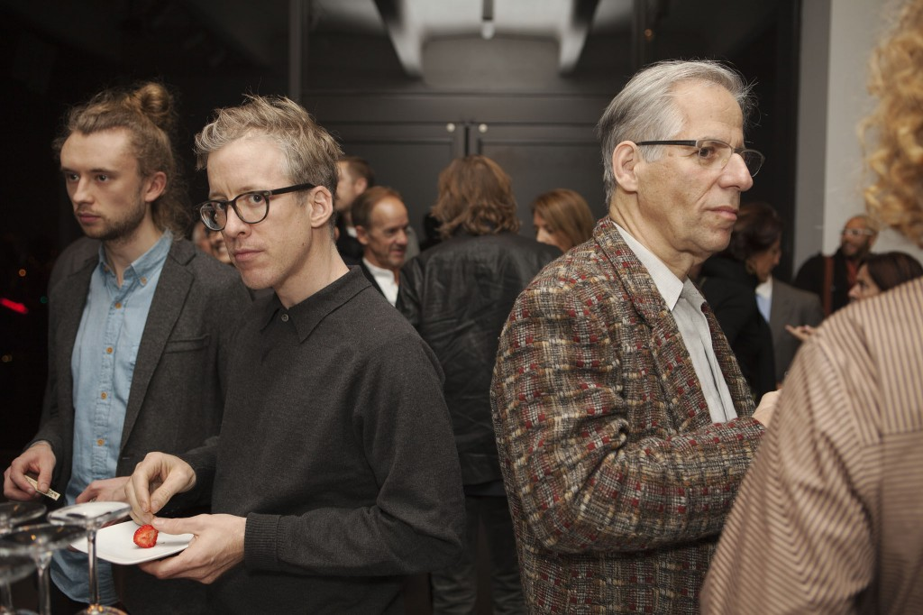 "Artist Broc Blegen, ""Third Rail"" editor Jonathan Thomas, and photographer and MCAD professor David Goldies"