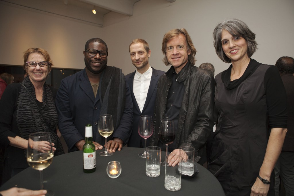Walker senior curator of film/video Sheryl Mousley, artist and filmmaker Steve McQueen, MoMA chief curator of media and performance Stuart Comer, 12 Years a Slave producer Bill Pohlad, and Walker executive director Olga Viso