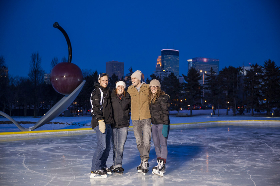 Skaters by the Spoonbridge and Cherry